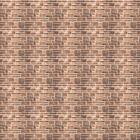 Vintage Orange color brick wall background. Brick Textures Series photo