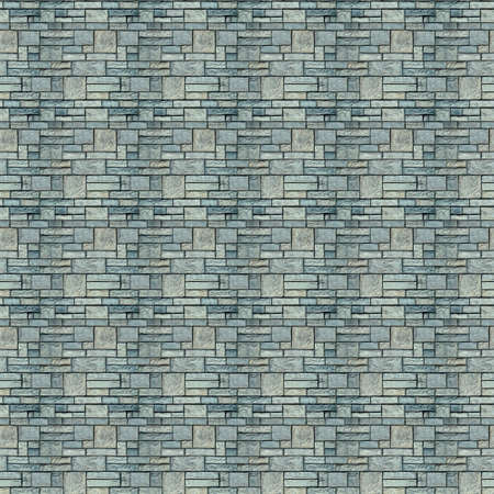 Vintage Green color brick wall background. Brick Textures Series. photo