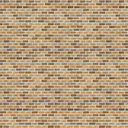 Vintage Yellow brick wall background. Brick Textures Series. photo