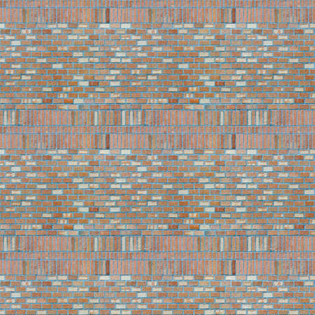 Vintage light purple color brick wall background. Brick Textures Series photo