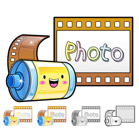 Different styles of Film Sets. Household Items Vector Icon Series. Vector