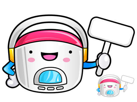 Different styles of electric rice cooker Sets. Appliances Items Vector Icon Series. Vector