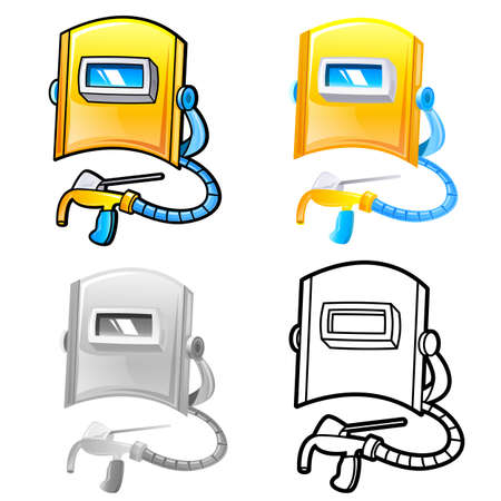 Various styles of Welding Sets. Industrial market Items Vector Icon Series. Vector