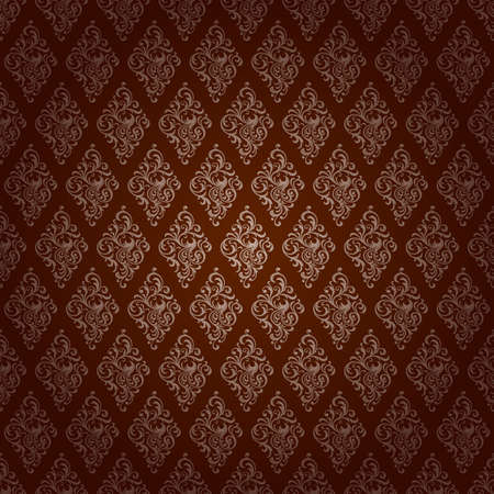 Red Brown Colors Damask Style Pattern design. Original Pattern and Symbol Series. Vector
