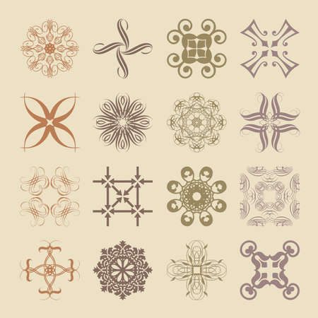 Various styles of Soft Symbol Sets. Original Pattern and Symbol Series. Vector