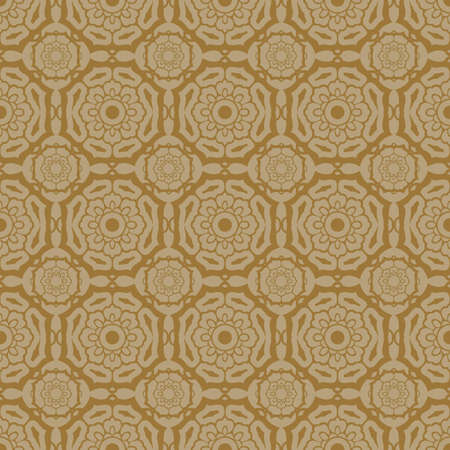 Beige Colors Flower Pattern Design. Korean traditional Pattern Design Series. Vector