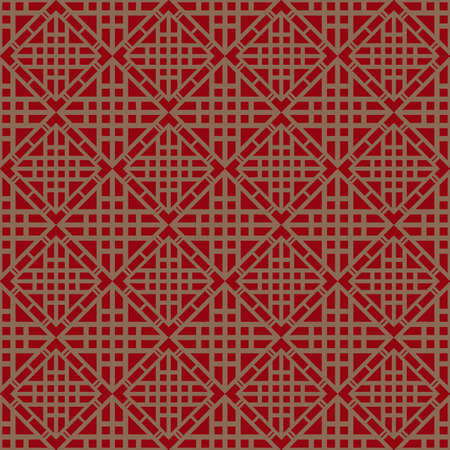 Red Brown Colors Plaid Pattern. Korean traditional Pattern Design Series. Vector