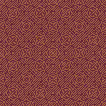 Red Brown Colors Geometry Pattern. Korean traditional Pattern Design Series. Vector