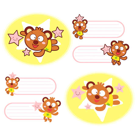 Various styles of Bear Mascot Sets. Animal Character Design Series. Vector
