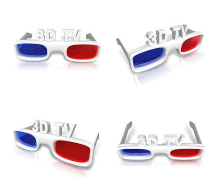 3d: 3D Glasses icon. 3D Icon Design Series. Stock Photo