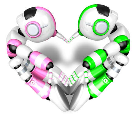 humanoid: The heart in the form of body language. Create 3D Humanoid Robot Series.