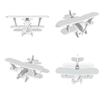 fuselage: 3D Small airplane icon. 3D Icon Design Series.