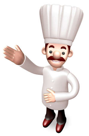 body language: Body language to welcome Chef. 3D Chef Character