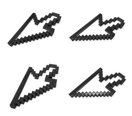 3d mouse: 3D mouse cursor icon. 3D Icon Design Series. Stock Photo