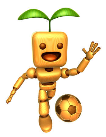 3d doll: 3D Wood Doll Mascot is a powerful Football playing. Wooden Ball Jointed doll Character Design Series.