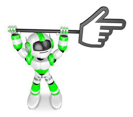 humanoid: That Green Camera holding a large cursor indicate a direction. Create 3D Humanoid Robot Series.