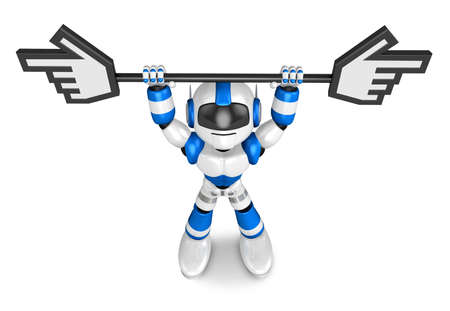 humanoid: That Blue Camera holding a large cursor indicate a direction. Create 3D Humanoid Robot Series.