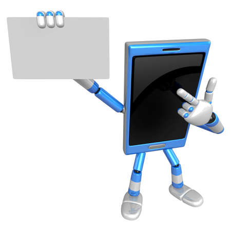 cellularphone: 3D Smart Phone Mascot has been directed towards business card. 3D Mobile Phone Character Design Series.
