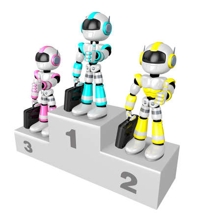 humanoid: Awards Ceremony of Business Robot.  Create 3D Humanoid Robot Series.