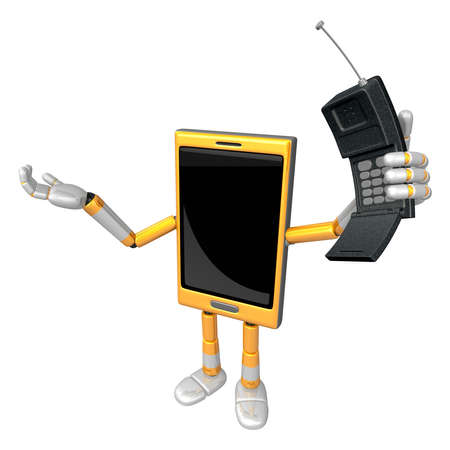 phone time: 3D Smart Phone Mascot just calls me back when you have more time. 3D Mobile Phone Character Design Series.
