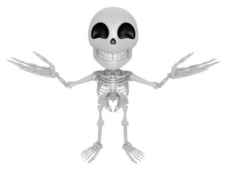 welcomed: 3D Skeleton Mascot has been welcomed with both hands. 3D Skull Character Design Series.