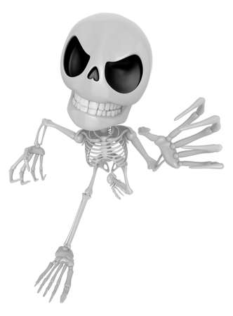 duress: 3D Skeleton Mascot is scaring the daylight out of somebody. 3D Skull Character Design Series.