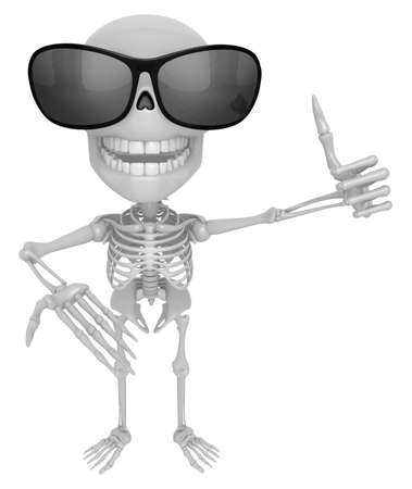 guides: 3D Skeleton Mascot the left hand best gesture and the right hand guides. 3D Skull Character Design Series.