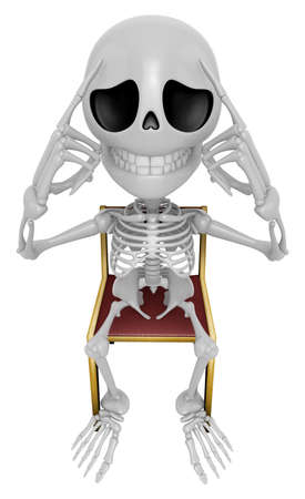 occurred: 3D Skeleton Mascot a hard problem that is occurred. 3D Skull Character Design Series.