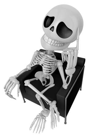 originative: 3D Skeleton Mascot is idea never crosses my mind. 3D Skull Character Design Series.