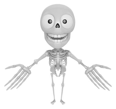 live feeling: 3D Skeleton Mascot has been welcomed with both hands. 3D Skull Character Design Series.