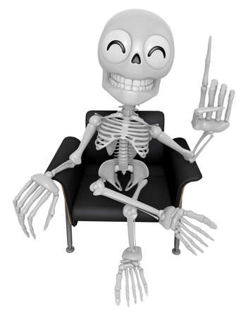 rushed: 3D Skeleton Mascot is a great idea rushed upon my mind. 3D Skull Character Design Series.