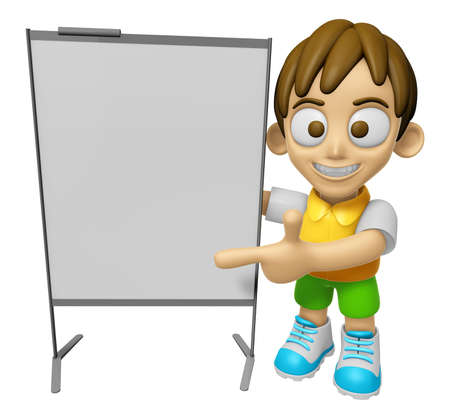 explanation: 3D Child Mascot is concise explanation of a whiteboard. Work and Job Character Design Series 2.