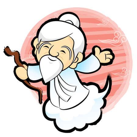commemoration day: Korean traditional Taoist Mascot. New Year Character Design Series. Illustration