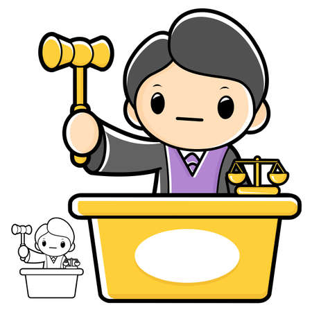 jurors: The trial judge, that the character .A law school Character Illustration