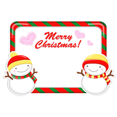 commemoration day: Snowman Mascot using a variety of banner designs. Christmas Character Design Series.