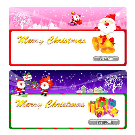 amemorial day: Santa Claus Mascot using a variety of banner designs. Christmas Character Design Series.
