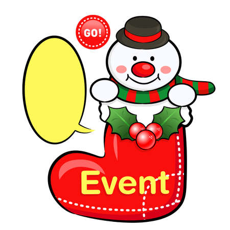 amemorial day: Snowman Mascot the event activity. Christmas Character Design Series.