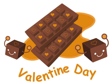 airiness: Variety of chocolate collection. Valentine Character Design Series. Illustration