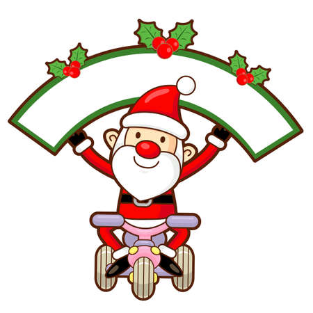 commemoration day: Santa Claus mascot the event activity. Christmas Character Design Series.
