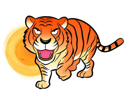 amemorial day: Korean traditional Tiger Mascot. New Year Character Design Series.