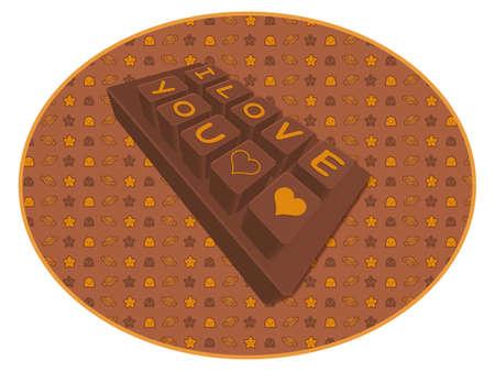 airiness: Big chocolate bar. Valentine Character Design Series.