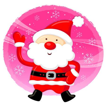 amemorial day: Santa Claus Mascot using a variety of banner designs. Christmas Character Design Series.