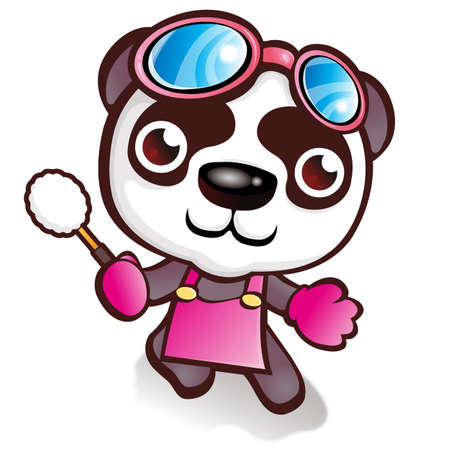 to clean up: Clean up your favorite Panda character Illustration