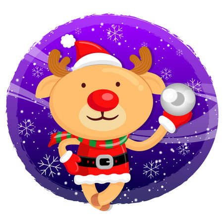 amemorial day: Santa Claus mascot the event activity. Christmas Character Design Series.