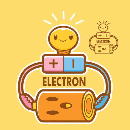 alternating current: Electronics and mascot. Education and life Character Design series.