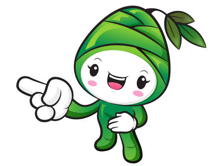 plantlife: Bamboo shoot Character Suggests the direction. Nature Character Design Series.