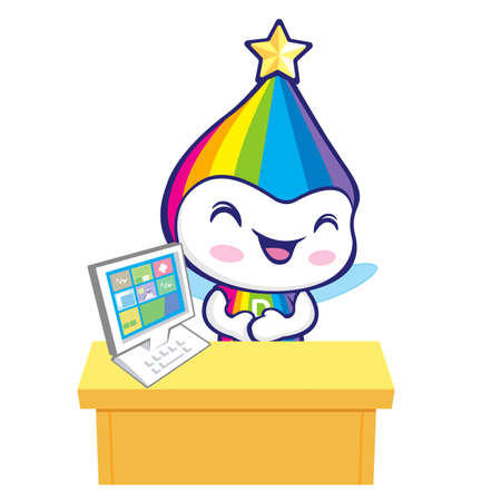smart goals: The Rainbow Mascot is doing the presentation. Dream of Fairy Character Design Series.