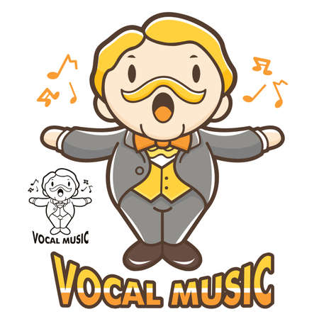 vocal: Department of Vocal Music mascot. Education and life Character Design series.