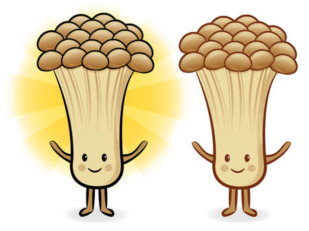 plantlife: Mushroom characters to promote Vegetable selling. Fungus Character Design Series.