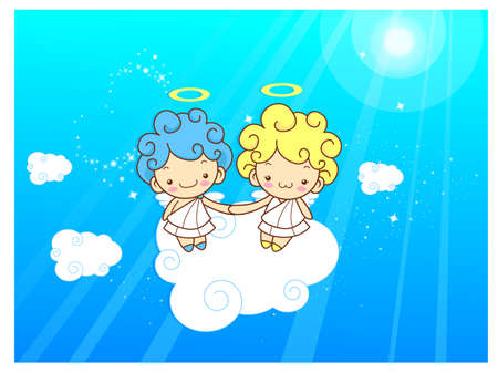 character design: Baby Angels Mascot are pendency. Angel Character Design Series. Illustration